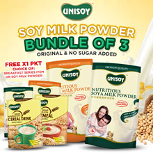 12.12 SPECIAL: BUY 2 FREE 1 (cereal/oat/soya milk) l Unisoy Soya Milk Powder l Breakfast Series