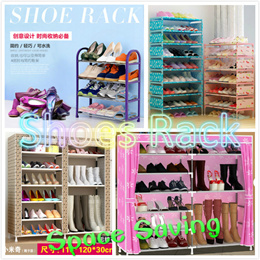 3/4/5/6 Tier Simple Shoe Rack / Shoes Storage / DIY Shoe Shelf / Shoe Cabinets / Good Quality