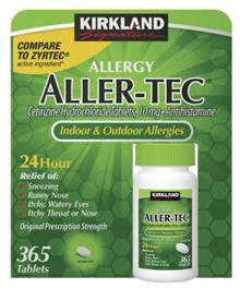 [US Direct Delivery] Kirkland Signature Aller-Tec, 365 Tablets