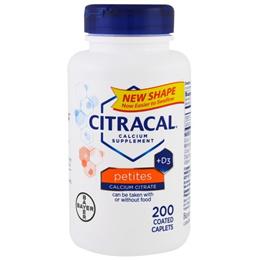 Citracal Calcium Supplement +D3 Petites 200 Coated Caplets