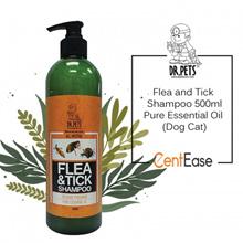 DR PETS Flea and Tick Shampoo 500ml - Pure Essential Oil (Dog Cat)