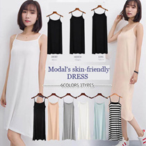 ★3length 6color ★BUY 3 FREE SHIPPING ★ Modal skin-friendly dress/ plus size / loose style