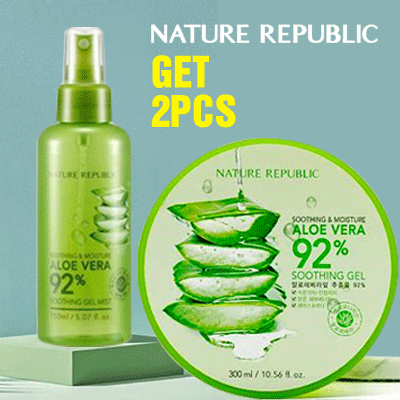 [Get 2 PCS] AloeVera 92% Soothing Gel 300ml Deals for only Rp139.000 instead of Rp210.606