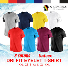 ★ DRI FIT EYELET ROUND NECK ★ UNISEX/ SUITABLE FOR MEN AND WOMEN/ NEW ARRIVALS/ BEST BUY/ Wholesale