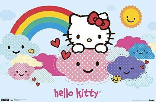 ba14c1fc7 Qoo10 - Trends International Hello Kitty Clouds Wall Poster 22.375 ...