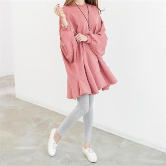 ピピン行き来するようにピピンジェイエスラブリー下のだんのフリルのワンピース34837 綿ワンピース/ 韓国ファッション