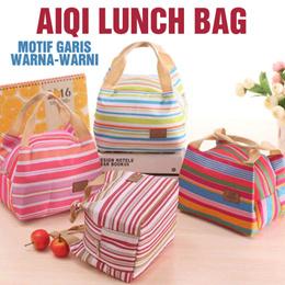 AIQI Lunch Bag / Tas Bekal Garis Warna-Warni