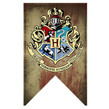 Harry Potter Banners Gryffindor Slytherin Hufflerpuff Ravenclaw College Flag Party Supplies Home Dec