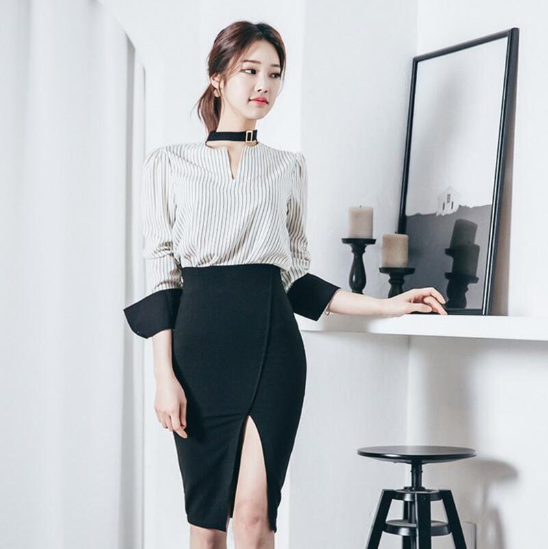 [55555SHOP]レディース シャツ スカート OL 出勤 セット 新作 パーティー OL 上品 ドレス