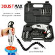 JoustMax 180 Spinable 45 Pieces 4.8V Cordless Rechargeabler Drill Driver FOC 40cm Flexible Shaft