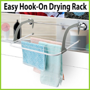 [AE1804] Easy Hook On Drying Rack / Dryer ★ Clothes / Towels / Shoes ★ Window / Balcony / Railings