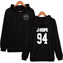 Kpop BTS 94 J-HOPE Bangtan Boys Zipper Zip-up Hoodie & Sweatshirt cotton BTS Fans Clothes 4Colors Pl