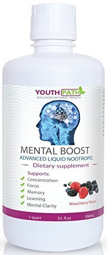 Youth Path Mental Boost - Advanced Liquid Nootropic Natural Health Brain  Supplement - Enhances Mood