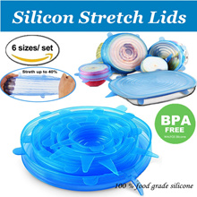 Silicon stretch lids  universal lid Silicone food wrap bowl pot lid silicone cover pan cooking