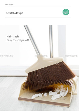FLOOR DUSTPAN BROOM HOLDER ANTI VACUUM CLEANER  FOLDABLE CLEANING SUPPLIES DUSTER