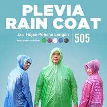 Jas Hujan PLEVIA BATHI 505 - Raincoat Motor Poncho Murah Rain Coat Karet  SJ0060