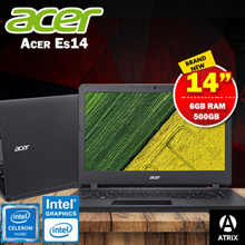 [Brand New Laptop]Acer Es14| Free upgrade to 6GB Ram| Intel Celeron 500GB HDD with inbuild DVD Playe
