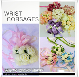 [WRIST CORSAGES] boutonniere/ bridesmaid/ hand flowers/ wedding/ ROM/ gift