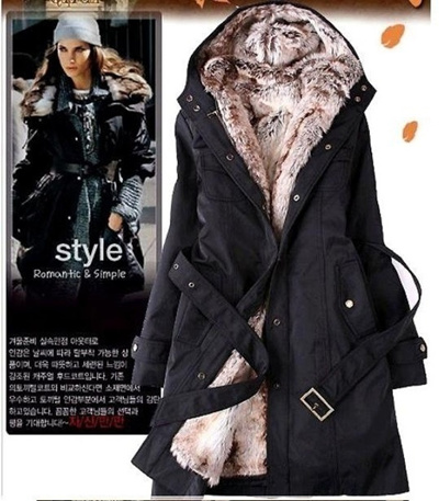 9d8370e065a Hot sale Faux fur lining Women fur Hoodies Ladies coats winter warm long  coat jacket cotton