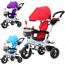 Baby Tricycle Bike Three Wheels Baby Bicycle Baby Stroller Rotating Seat Kids Bicycle With Storage B