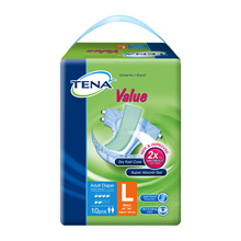 [Free Delivery]TENA Value Adult Diapers Available in Carton Sale VALUE L10S(8PK X 10S)