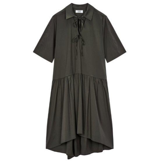 ・トムボイシャツカラリボンワンピース9107241324 面ワンピース/ 韓国ファッション