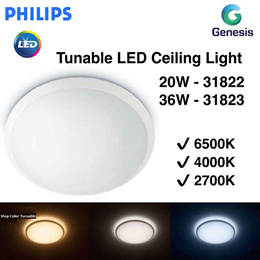 Philips Step LED 20W / 36W Tunable Ceiling Light - 31822 / 31823 (1 Year Warranty)