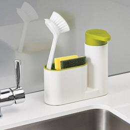 Washing Sponge Kitchen Storage Shelf   Multifunctional Sink Detergent Soap Dispenser Hand Sanitizer