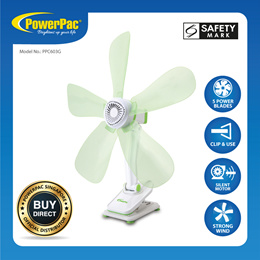 PowerPac Electric Clip Fan with Silent motor (PPC603G)