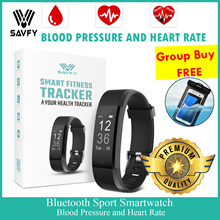 SAVFY Heart Rate Smartwatch / Heart Rate Monitor Watch / Blood Pressure Watch /Fitness Tracker