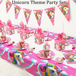 Unicorn Theme Party Decoration Happy Birthday Banner Tablecloth Candy bag  Christmas Decoration Suppl 56daf48a28242