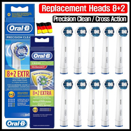 [Authentic Oral-B] Precision Clean (8+2) / Cross Action(8+2) / Made in Germany _ Lowest Price