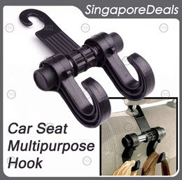 CAR BACK SEAT MULTIPURPOSE BACKSEAT DUAL HOOK/HOLDER/HANGER ACCESSORIES CA2