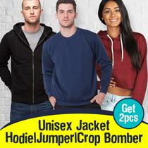 [ NEW COLOR UPDATE !!! ] PROMO BUY 1 GET 1 UNISEX SWEATSHIRT / CROP BOMBER / HOODIE / JUMPER