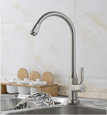 Kitchen single cold tap water Caipei sink faucet basin faucet copper wire drawing can be rotating ta