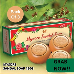 Mysore Sandal Soap450g (150x3) (Pack Of 3)