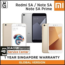 Xiaomi Redmi 5A 2/16GB / Redmi Note 5A 2/16GB / Redmi NOTE 5A Prime 3/32GB / 1 Year Warranty