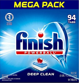 Finish Dishwasher Tablets - Powerball - 94 Tablets - Supercharged - Fresh Scent (Product of USA)