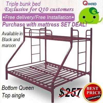 Qoo10 Metal Bunk Bed Furniture Deco