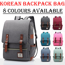 【FREE QXPRESS】★Unisex Korean Version Shoulder Backpack School Bag Unisex Men Women Bag BPB-CB04N