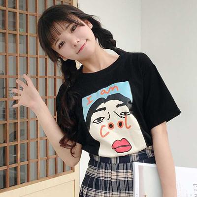 1539868e190e7 Qoo10 - outlet Korean ulzzang summer new Funny printed T-shirts ...
