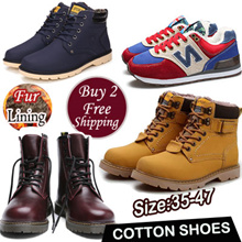 ★Fast Shipping★ Mens Winter Boots★Mens Cotton Shoes ★High-top shoes mens shoes★boots Dress Shoes