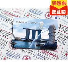 [Ball Studio] Singapore trip gift soft magnetic refrigerator merlion Park