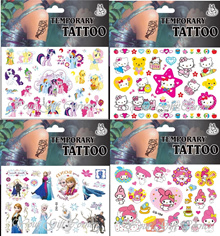★CARTOON TATTOO (GIRLS DESIGN)★KIDS TEMPORARY TATTOO ★NAIL STICKERS★Party Favor