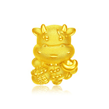 Chow Tai Fook 999 Pure Gold Charm - Ox Brings Wealth R26033