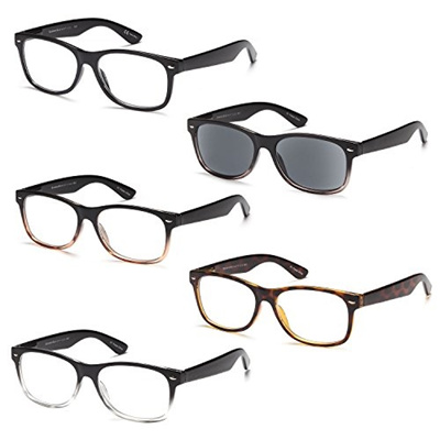 807c4fab04 (Gamma Ray Optics) GAMMA RAY 5 Pack Spring Hinged Reading Glasses for Men  and