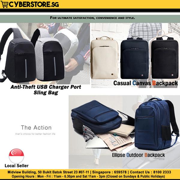 Korean Branded Back Pack For Men Women Leather Bag Laptop Bag Anti-Theft Bag Bag Accessories Deals for only S$129.9 instead of S$129.9