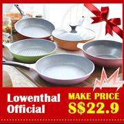 Lowenthal official 1+1 nonstick cookware Titanium Stone Frying Pan wok / grill pan pot woks cookwar