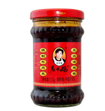 Lao Gan Ma refined beef milk soy sauce pepper / chili sauce hot sauce/ 4 bottle x 210g each [1 set]/ Old Godmother