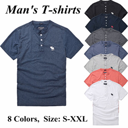 d1b90b73626 COUPON · 2018 Summer T-shirts Mens Wear Pure Cotton Deer Pattern Sport  Leisure Short Sleeves Shirt